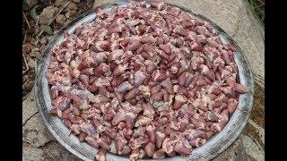 1000 CHICKEN HEARTS Prepared by My DADDY ARUMUGAM / Village food factory