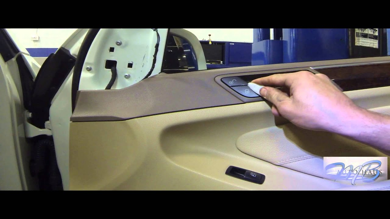 Mb Autohaus Mercede Benz Front Door Panel Removal For Ml Gl And R Cl