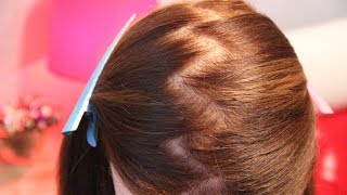 как сделать пробор зигзаг на волосах