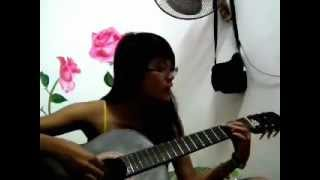 Bên đời hiu quạnh- Guitar cover - RubyNguyen