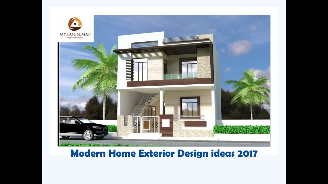 Exterior House Design. Modern House Exterior Wall Painting Home ...