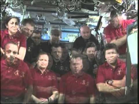 NASA STS-133 and Expedition 26 Crew Members Participate in a Farewell Ceremony