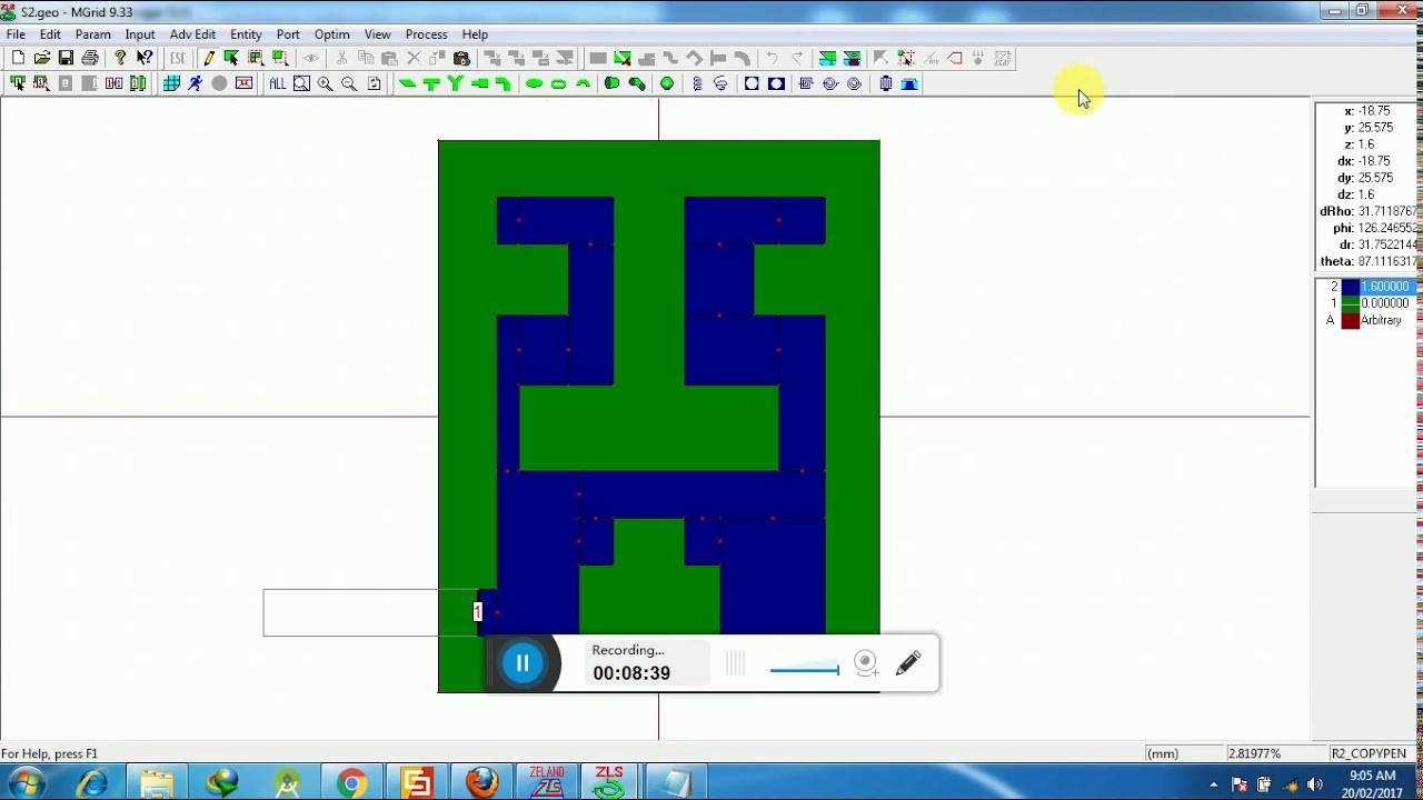 Microstrip patch antenna designing using IE3D software