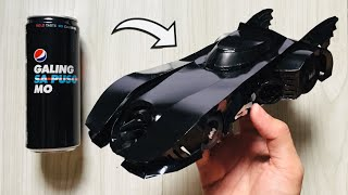Homemade Batmobile Using Soda Cans (Michael Keaton Version)