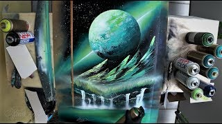 Green valley - SPRAY PAINT ART by Skech