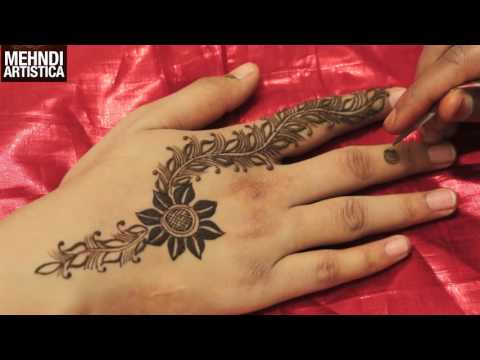 Easy Dip Flower Henna Leaf Floral Gulf Mehndi Art Step By Step For Beginners 2017