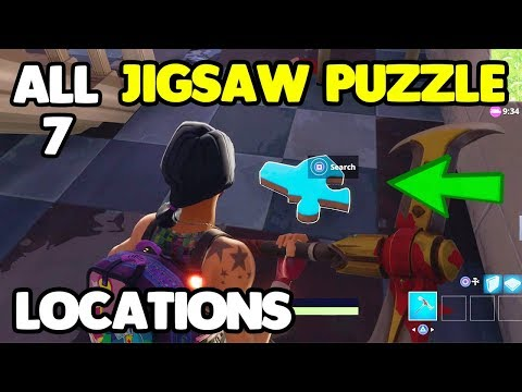 ALL 7 JIGSAW PUZZLE LOCATIONS! Fortnite