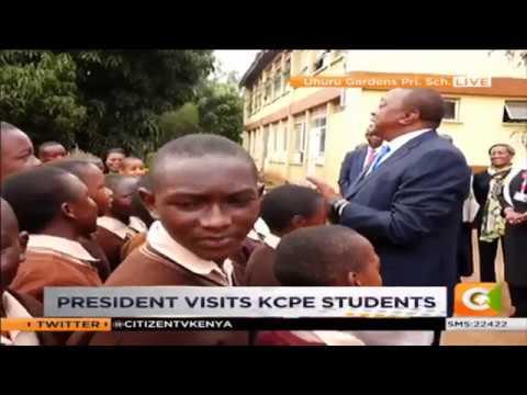 President Uhuru Kenyatta visits KCPE candidates