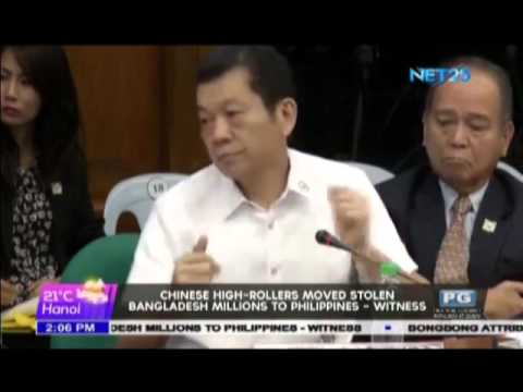 Chinese high rollers moved stolen Bangladesh millions to Philippines   witness