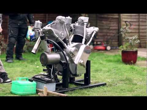 "The ""Flying Millyard"" 5 Litre V Twin first test run"