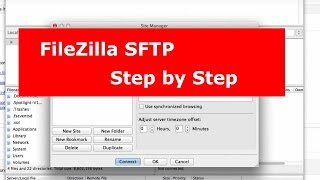 Using FileZilla Secure FTP or SFTP Connection