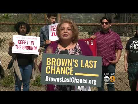 "KCAL 9, LA: Environmental Groups Warn Gov. Brown, ""This is your last chance to leave a green future"""