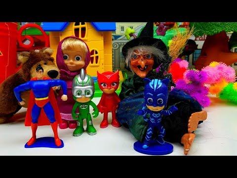 Super Pigiamini, Masha e Orso e Super Man costruiscono una trappola per la STREGA 👻 👺 ☠️