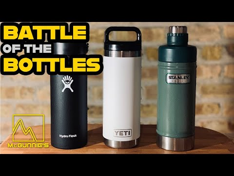 HydroFlask vs YETI vs Stanley | Best Water Bottle Test | Review & Torture Test
