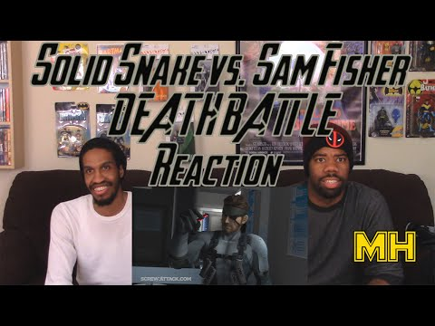 Solid Snake VS Sam Fisher DEATH BATTLE Real Reaction....