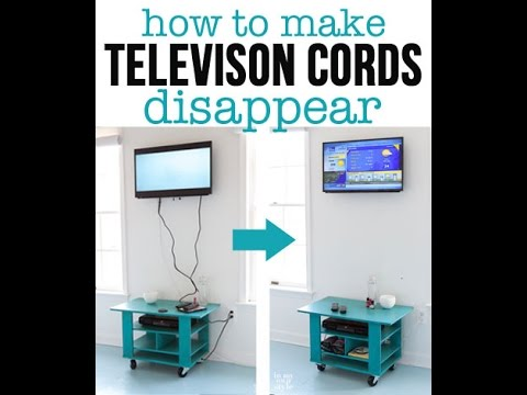 How To Hide The Wires On A Wall Mounted Tv Youtube