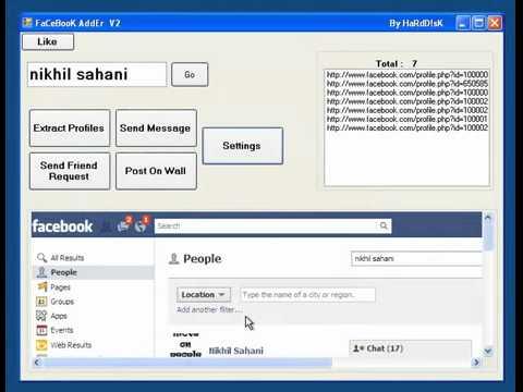 Facebook Auto Friend Adder