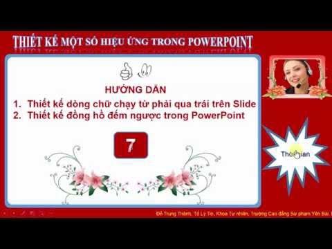 Thiết kế dòng chữ chạy trong Slide và đồng hồ đếm ngược trong PowerPoint