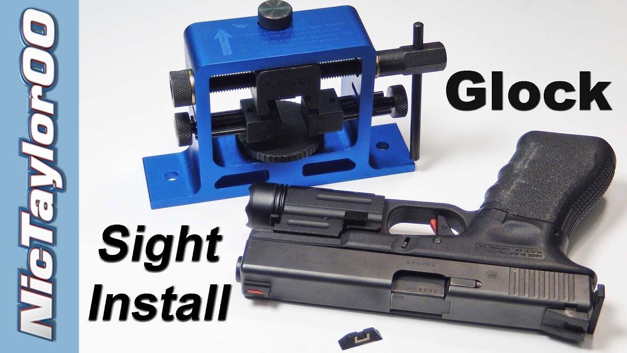 Glock Pistol Sight Installation - Fiber Optic Sight Upgrade