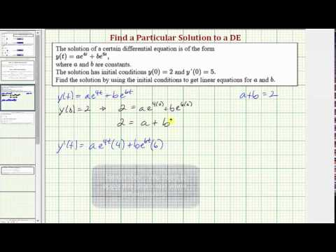 Ex: Given a Solution to a Differential Equation, Find the