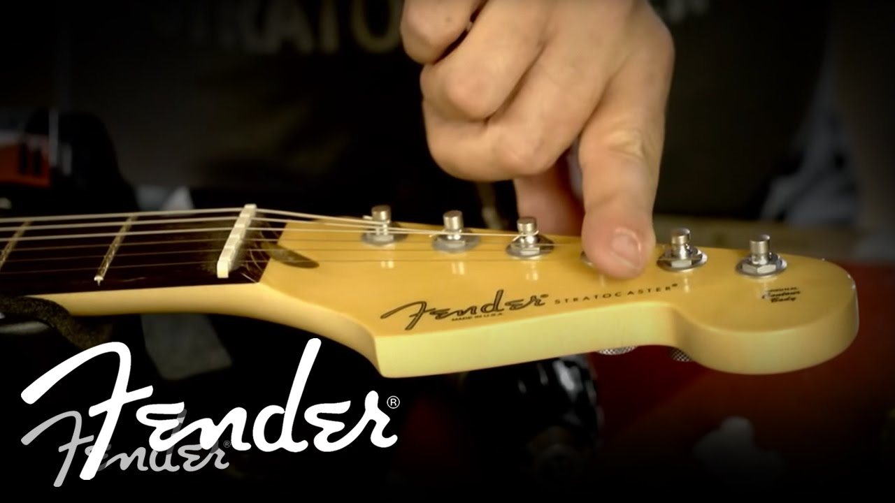 how to install a fender string guide fender [ 1280 x 720 Pixel ]