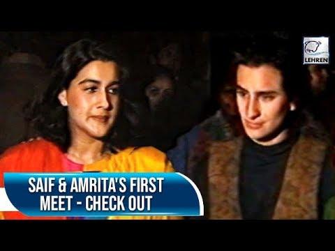 When Saif Ali Khan & Amrita Singh Met & Fell In Love During This Movie | Flashback Video