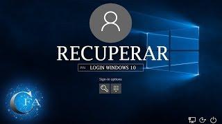 🔴 Como recuperar senha de Login do windows 10