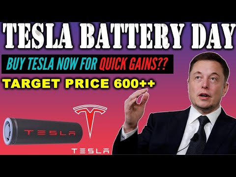 BUY TESLA ON MONDAY FOR QUICK GAINS?? TESLA BATTERY DAY DETAILED STOCK ANALYSIS