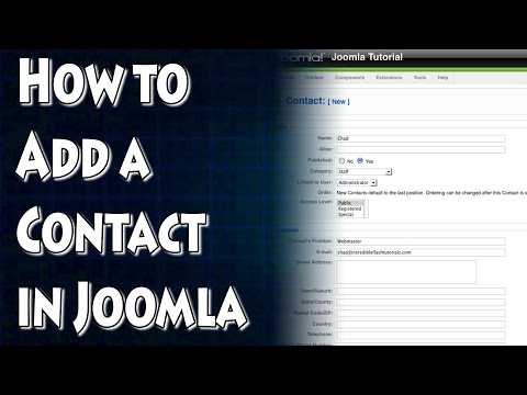 Joomla Tutorial: How To Add A Contact Page