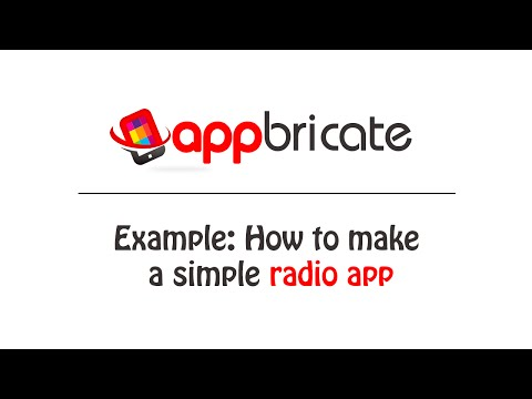 Example: How to make a simple radio app
