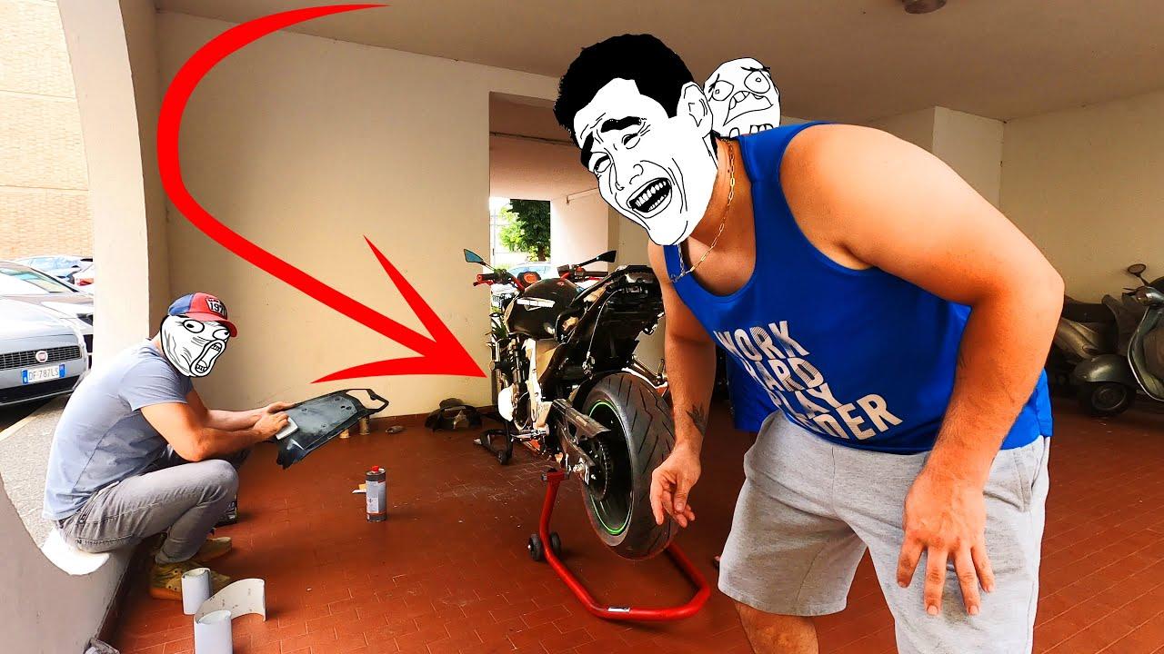 Cum sa repari motocicleta LOW COST !! #244