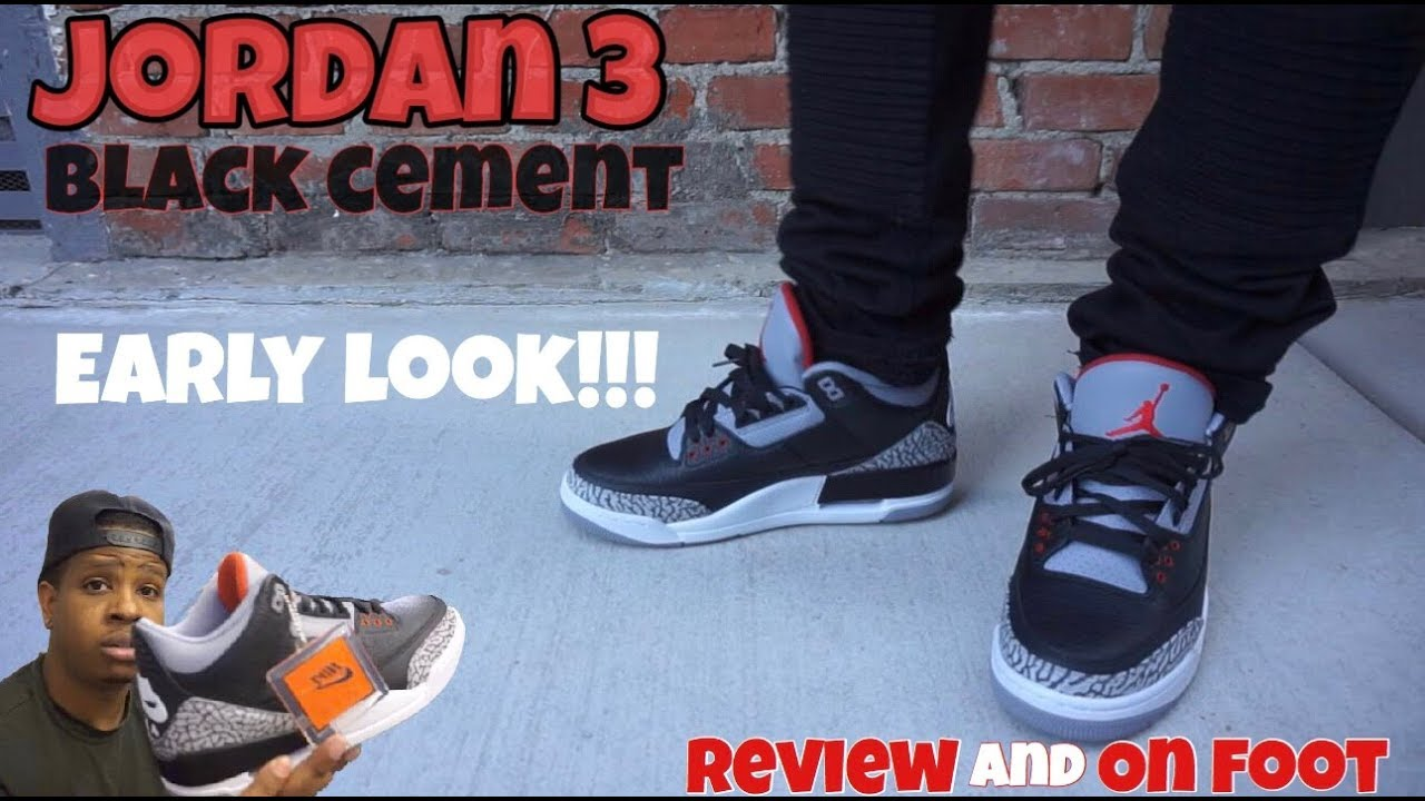 342213d7412a 2018 Jordan 3 Black Cement Review + On Feet - YouTube