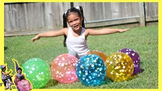 Sam  Pretend Play w/ Colorful Balloons fun video for kids By Sam and Abby
