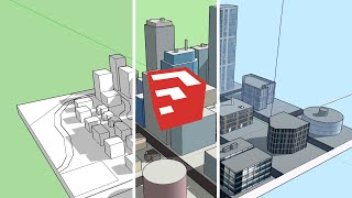 SketchUp City Building - Basic Tips & Tutorial
