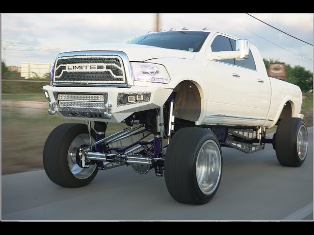 Most Custom Lifted Truck Fully Engraved 25 Inch Lift Kit On Bags With 26x16s Youtube