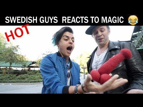 Swedish guys react to magic😏 - Julien Magic