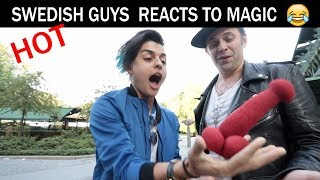 Swedish guys react to magic😏 - Julien Magic