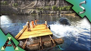 BRAND NEW ADVENTURE! LEEDSICHTHYS BOAT DISASTER! - Ark: RAGNAROK [DLC Gameplay E1]