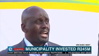 Municipality mayor speaks on money lost at VBS bank