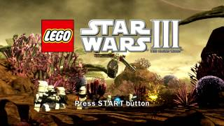 LEGO Star Wars III The Clone Wars Title Screen X360 PS3 Wii PC
