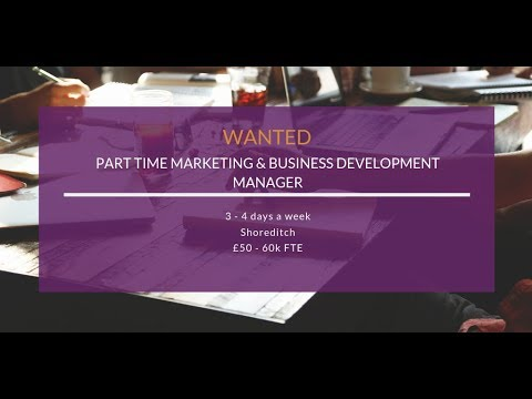 Part Time Marketing Business Development Manager Job