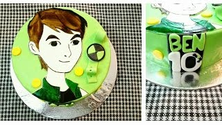 Video Hand painted BEN 10 cake. BEN 10 theme fondant cake.. download MP3, 3GP, MP4, WEBM, AVI, FLV Mei 2018