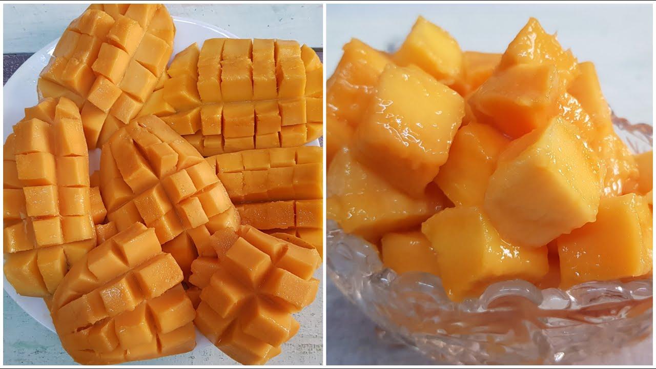 طريقة تقطيع المانجا بسهوله واحتراف | how to cut and dice mango