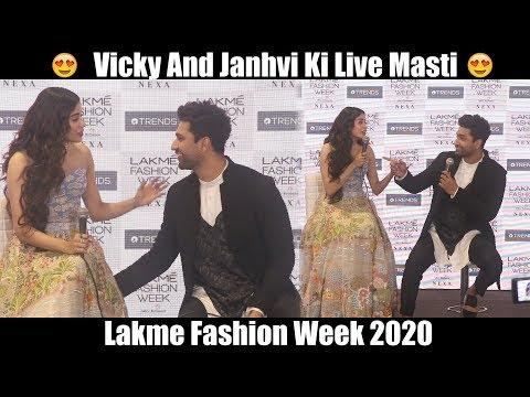 Vicky Kaushal Cute Masti With Janhvi Kapoor | Lakme Fashion Week 2020