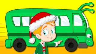 Groovy The Martian & Phoebe sing Wheels on the bus song! The funniest Christmas nursery rhymes!