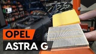 Montavimo Variklio oro filtras OPEL ASTRA: vaizdo pamokomis