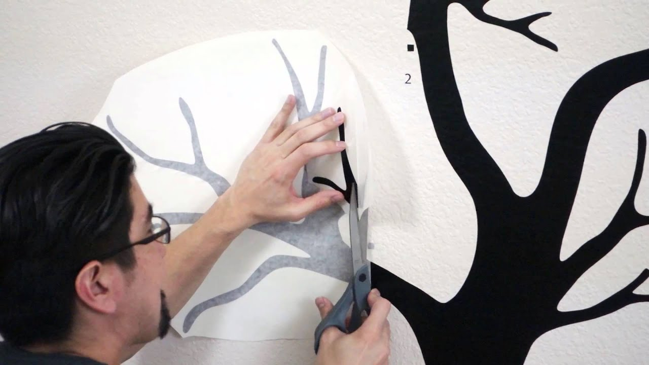 installing a tree wall decal using center hinge method youtube