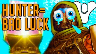 Destiny Hunter Has Bad Luck - Prison of Elders, Hard Raids, Nightfall & More