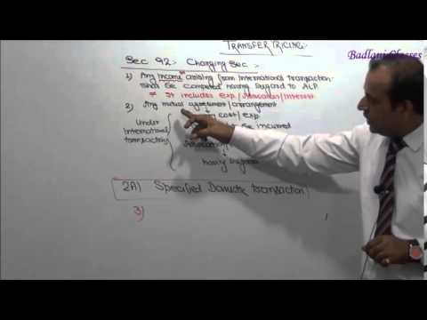 Income Tax : AY 15-16 : Transfer Pricing : International Taxation : Lecture 1
