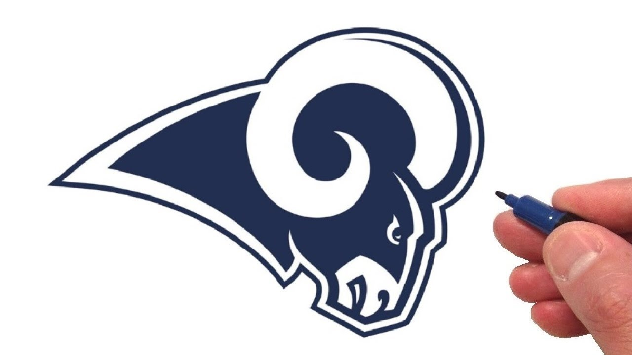 how to draw the los angeles rams logo youtube how to draw the los angeles rams logo